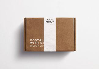 Postal Box With Sticker Mockup Thumbnail