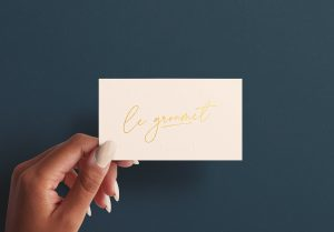 Woman Hand Holding Business Card Mockup Image01