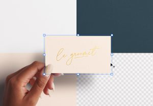 Woman Hand Holding Business Card Mockup Image02
