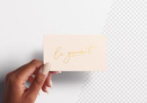 Woman Hand Holding Business Card Mockup Thumbnail 2