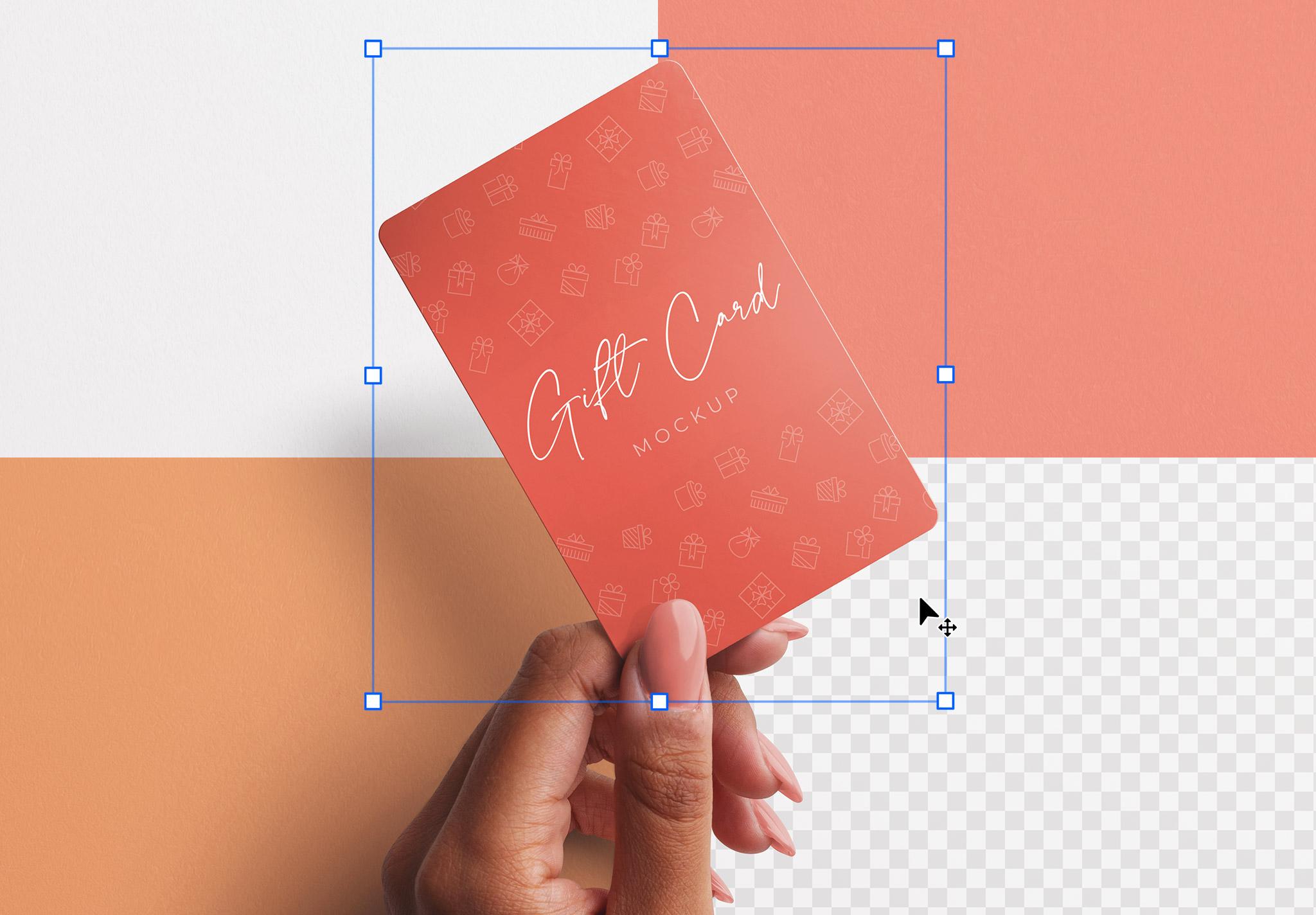 Woman Hand Holding Plastic Card Mockup 2 Image02