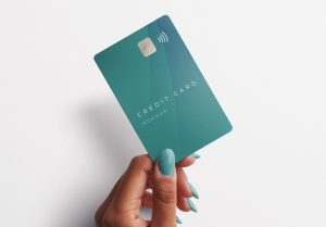 Woman Hand Holding Plastic Card Mockup 2 Image04