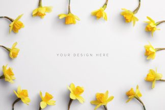 daffodils custom scene creator mockup 8