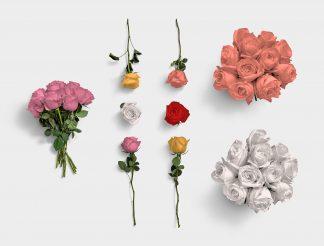 Roses Flower Item Scene Creator