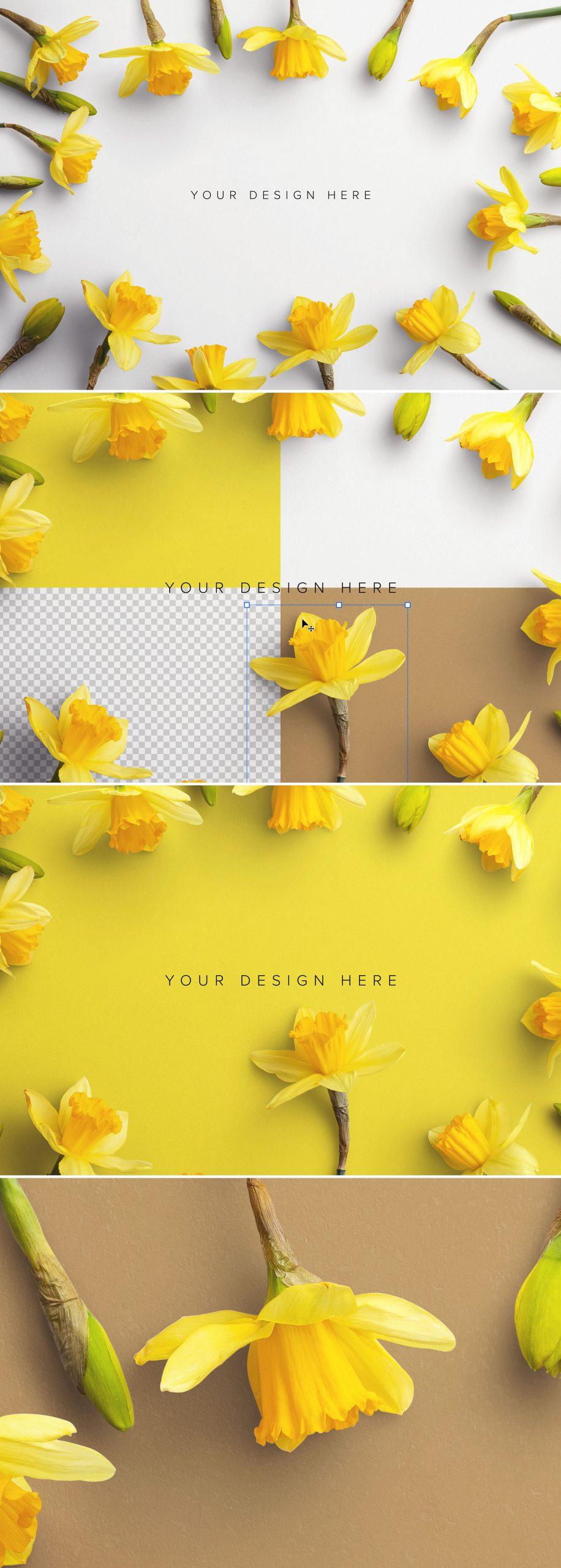 Daffodils Custom Scene Creator Template 1Preview1