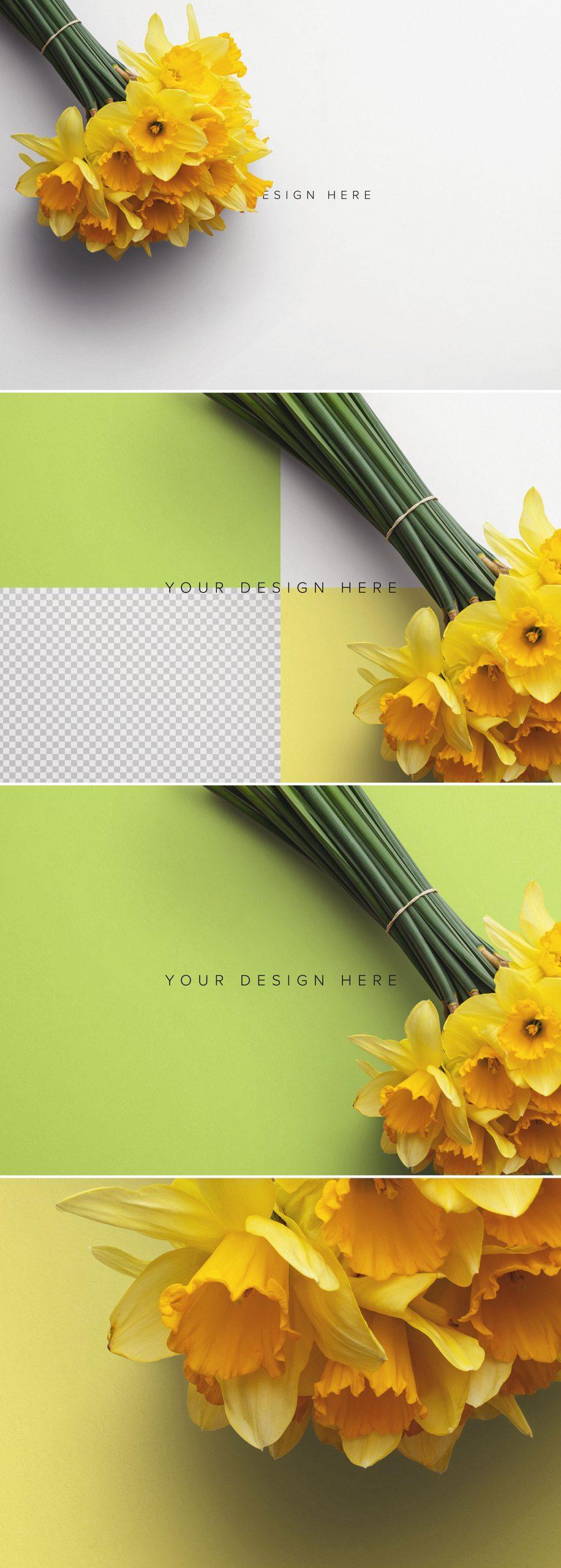 Daffodils Custom Scene Creator Template 5Preview1
