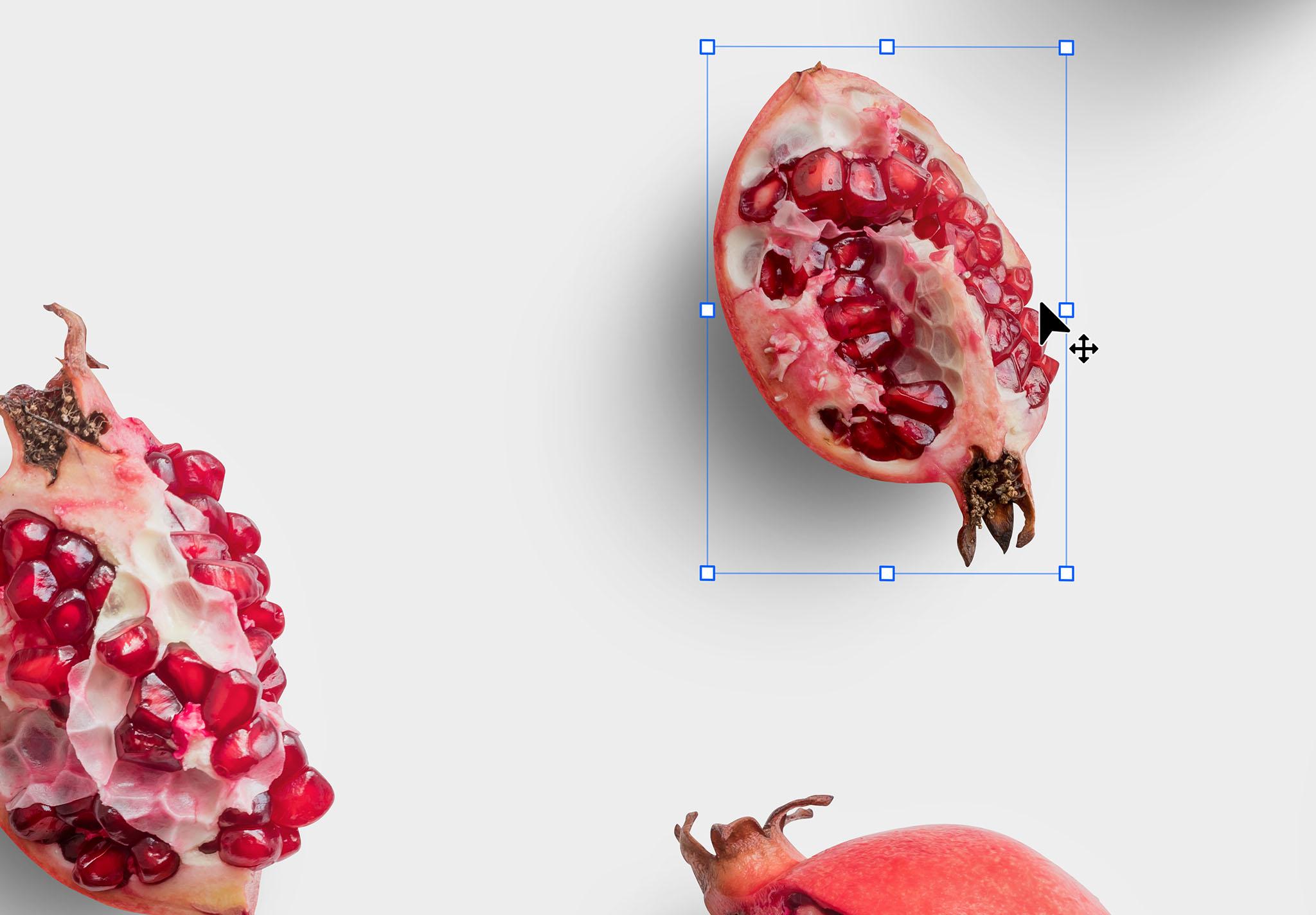 Fruit Pomegranates Isolated Objects
