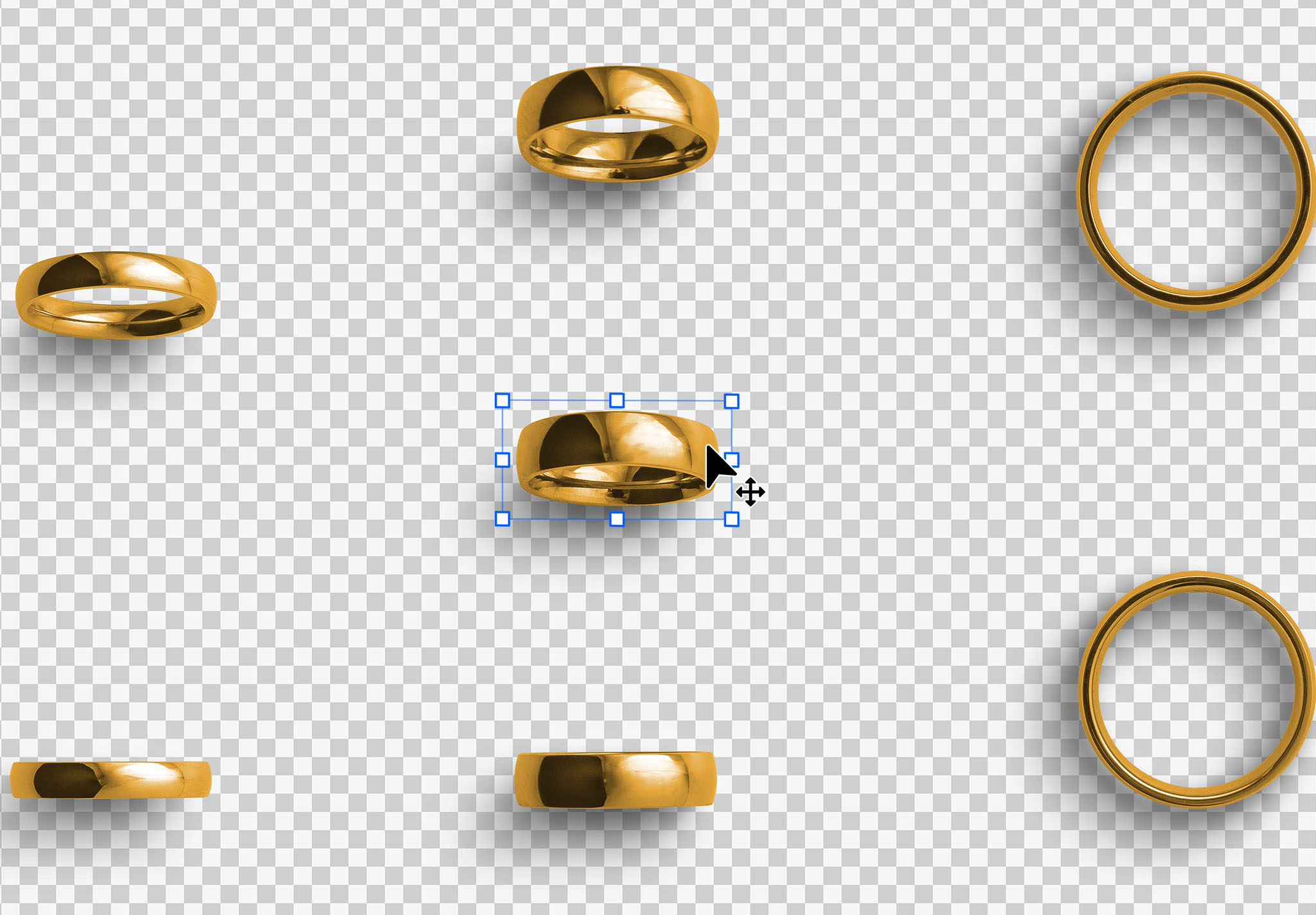Wedding Rings Isolated Objects